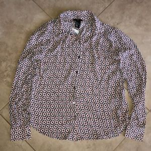 H&M - patterned button down NWT